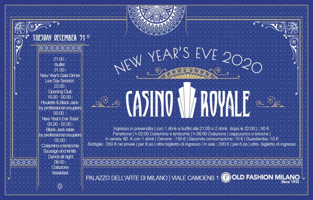 New year's eve 2020 Milano : Casino Royale